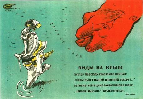 URSS 1944 Vues de la Crimee. affiche de Galba