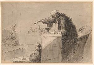 Daumier L accusation Dessin de 1865