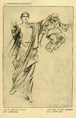 WW1 Qui ne proteste pas est complice carte postale de Raemaekers, Louis