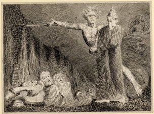 William Blake Lucifer and the Pope in Hell 1794 British Museum