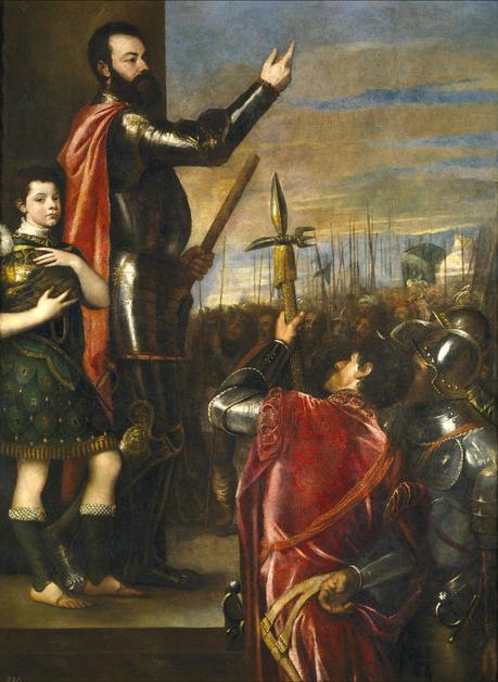 Allocution d'Alphonse d'Avalos Titien 1541 Musee du Prado, Madrid