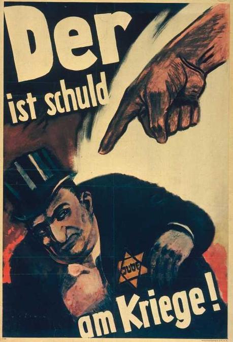 WW2 Allemagne 1943 Der is Shuld am Krieg affiche d Hans Schweitzer (Kriegsplakate der Reichspropagandaabteilung der NSDAP)