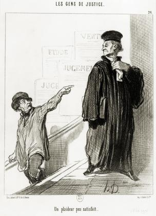 Daumier Un plaideur peu satisfait Planche n26 de la série Les Gens de justice 1846
