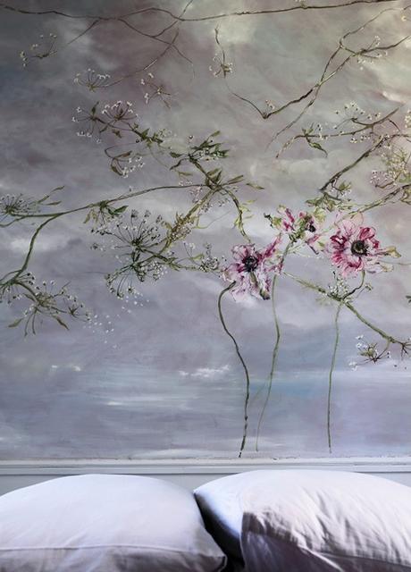 blog deco - fresque murale fleurs