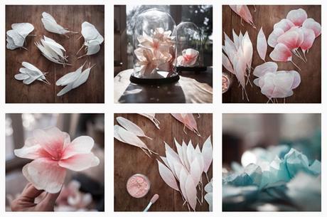 blog deco - fleurs en papier