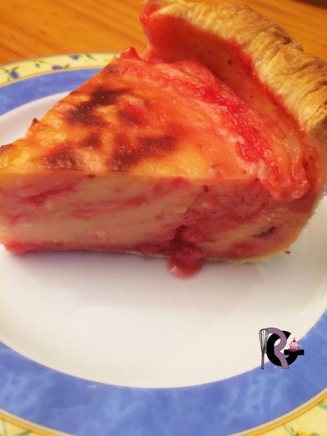 Flan aux pralines roses