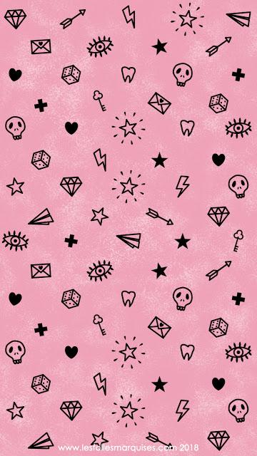 Downloadable Girly tattoo themed wallpaper - Fond d'écran thème Girly tattoo à télécharger