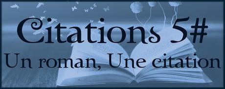 Citations #5 : Un roman, une citation...