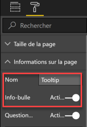 Info page tooltip