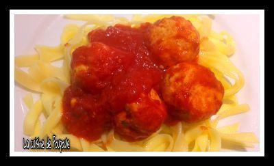 Boulettes de poulet à la sauce tomate au thermomix ou sans