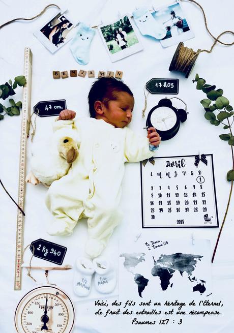 Après la Baby Shower, présentation du petit être qui a grandi en moi pendant 9 mois : Benjamin !