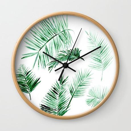 tendance tropicale diy horloge idee bricolage mercredi apres-midi enfant