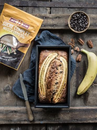Recette bio : Banana bread bio au sucre Muscovado Alter Eco