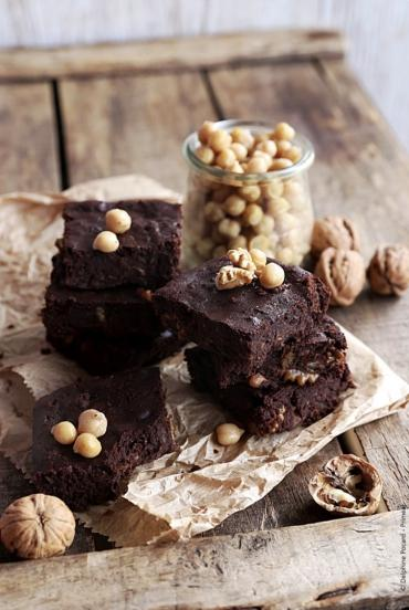 Recette bio : Brownie bio au chocolat noir et aux pois chiches Priméal (sans farine)