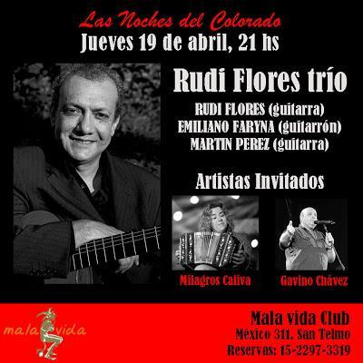 Demain, Rudi Flores ramène sa guitare au Mala vida Club [à l'affiche]