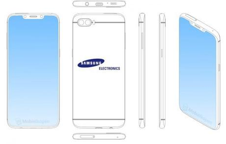 Samsung s'intéresse à l'encoche et dépose un brevet.