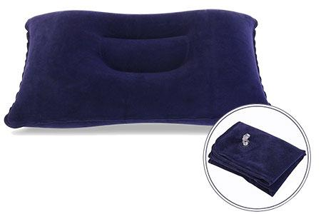 Un oreiller gonflable de voyage pour remplacer les oreillers dur comme la pierre de certains hôtels