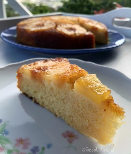 Le gâteau à l'ananas