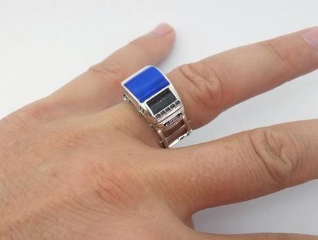 chevalière lapis lazuli pour homme