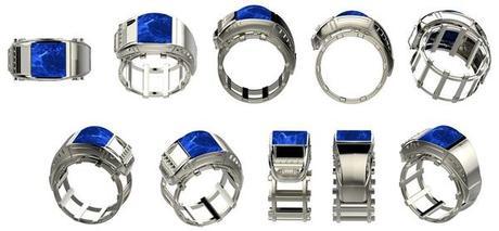photos chevaliere homme lapis lazuli