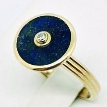 bague lapis lazuli or