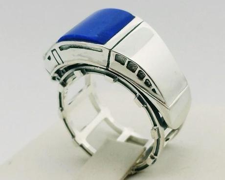 chevaliere lapis lazuli