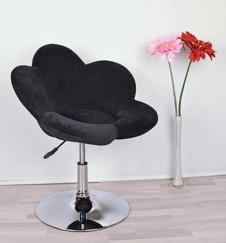 chaise en forme de fleur fauteuil coquelicot velours