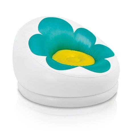 fauteuil gonfable fleur piscine vert jaune marguerite