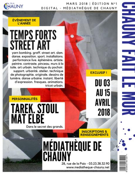 Résidence artistique de Mat Elbé à Chauny