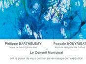 Aquarelle contemporaine abstraite Centre d'Art Saint-Sébastien Saint-Cyr-sur-Mer