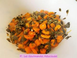 Terrine aux carottes avec une sauce aux noix