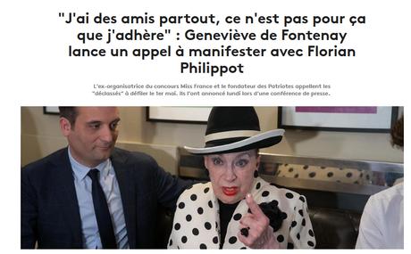 La vieillesse de Geneviève est un naufrage : #MissFacho au 1er mai des #patriotes…