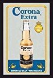 Empire Merchandising 537454 Miroir imprimé avec cadre en plastique façon bois Publicité Bière Corona a 20 x 30 cm