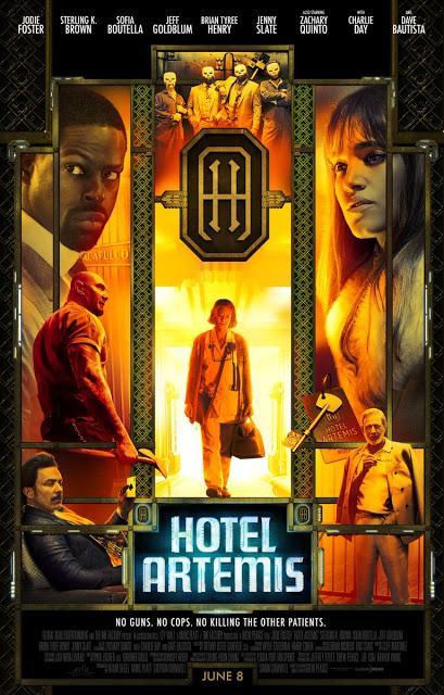 Affiche US pour Hotel Artemis de Drew Pearce