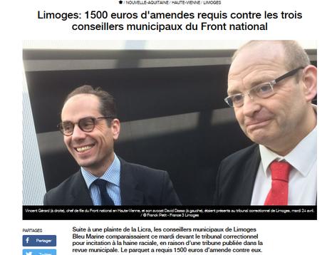 Sur la racaille tristement ordinaire du #FN… Ici, #Limoges
