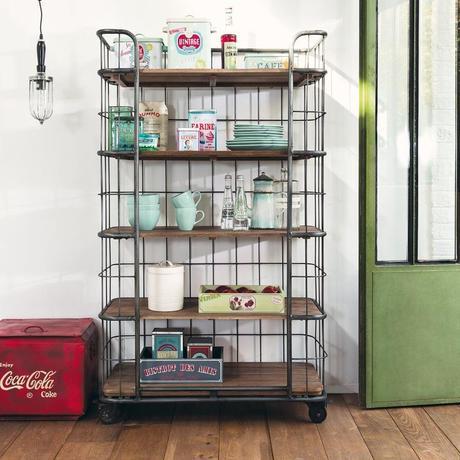 deco recup vintage retro cuisine démontable amovible industrielle meuble roue blog déco clemaroundthecorner