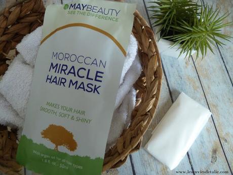 J'ai testé le masque tissu Moroccan Miracle Hair Mask de MayBeauty