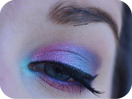 Makeup Bleu et Rose de Printemps