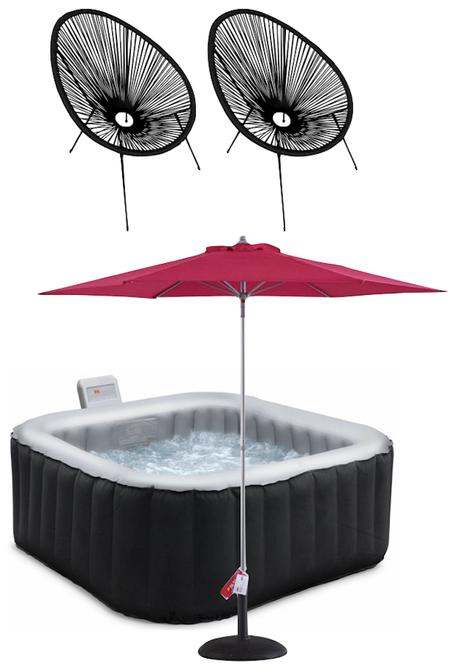 terrasse et jardin couple jacuzzi piscine amenagement exterieur blog deco design outdoor