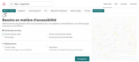 Séjours accessibles: les nouveaux filtres et fonctionnalités d'AirbnB