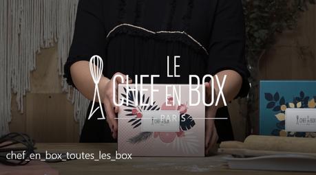 PATISSERIE : la Box Le Chef en Box