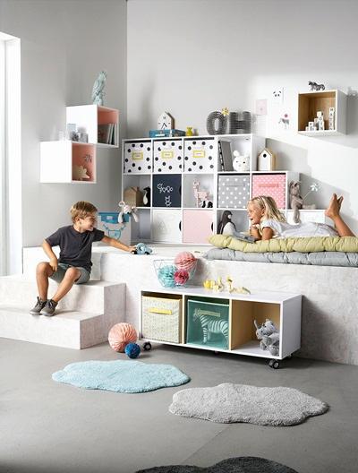 affordable meuble de rangement suspendu meuble de rangement cases en escalier blanc taupe vertbaudet with xpons meuble