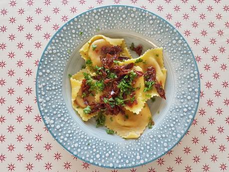 Ravioli Burrata tomates sechées et basilic Issimo