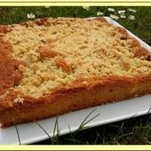 Gâteau streusel à la Rhubarbe - Oh, la gourmande..