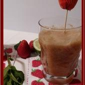 Jus Printanier à la rhubarbe, fraises et menthe au Thermomix. - Oh, la gourmande..