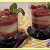 Trifle Rhubarbe Framboises - Oh, la gourmande..