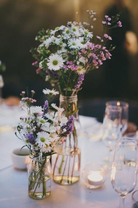 deco bucolique vase fleurs bouquet