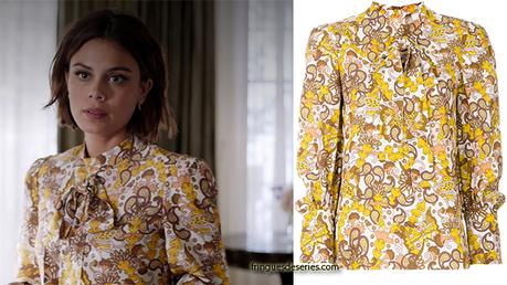 DYNASTY : floral tie neck blouse for Cristal  in s1e20