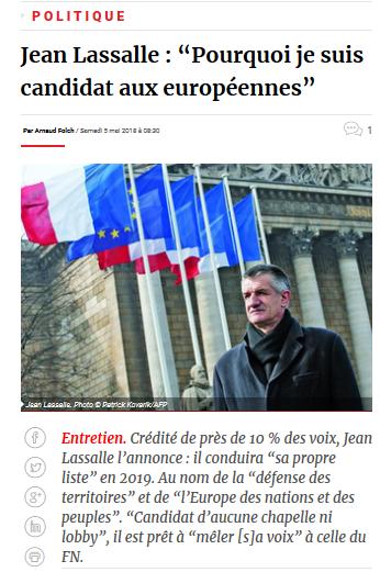 Jean Lasalle déclara sa flamme au #FN