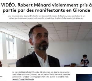 #Ménard #Béziers : qui sème la haine… récolte des seaux de pisse